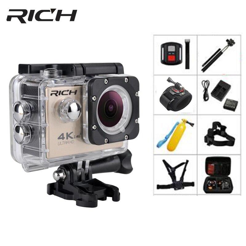 Caméra d'action riche WiFi HD F5R 170D 30 M 1080 P caméra extérieure étanche caméras sous-marines Mini casque sport Action Cam