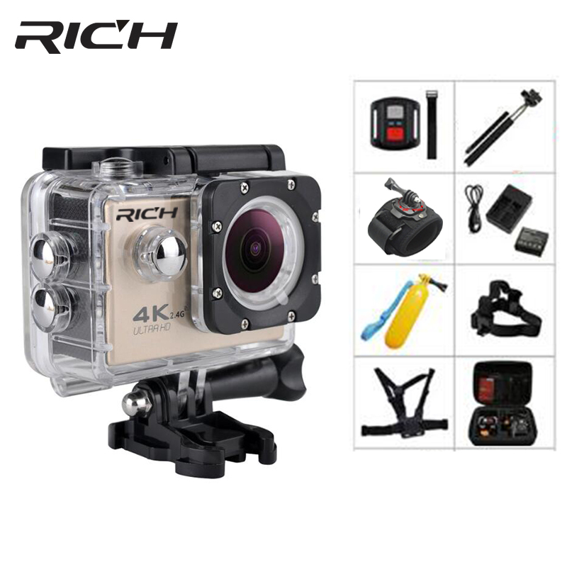 RICH F5R Full HD WiFi Action camera 2.0 170D 30M underwater Waterproof cameras Mini Helmet sports Cam outdoor camera Hero4 style