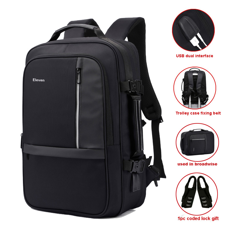 Men Backpack USB Anti Theft Bag Laptop Bag Business Trolley Case Style Travelling Bag Waterproof Enlarge Capacity Gripesack