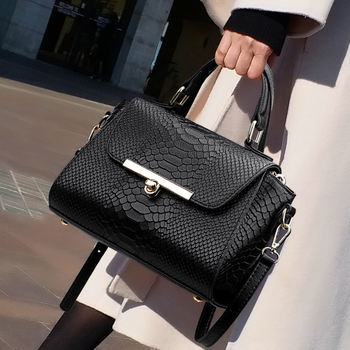 New Women's Designer Handbag 2019 Crocodile Pattern Quality  leather Women bag Big Tote Shoulder Crossbody Bags  high quality