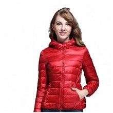 2017 Новые осенне-зимние женские куртки Сверхлегкий Хлопок Пальто повседневные Короткие хлопковые парки с капюшоном плюс зима OutwearM-3XL