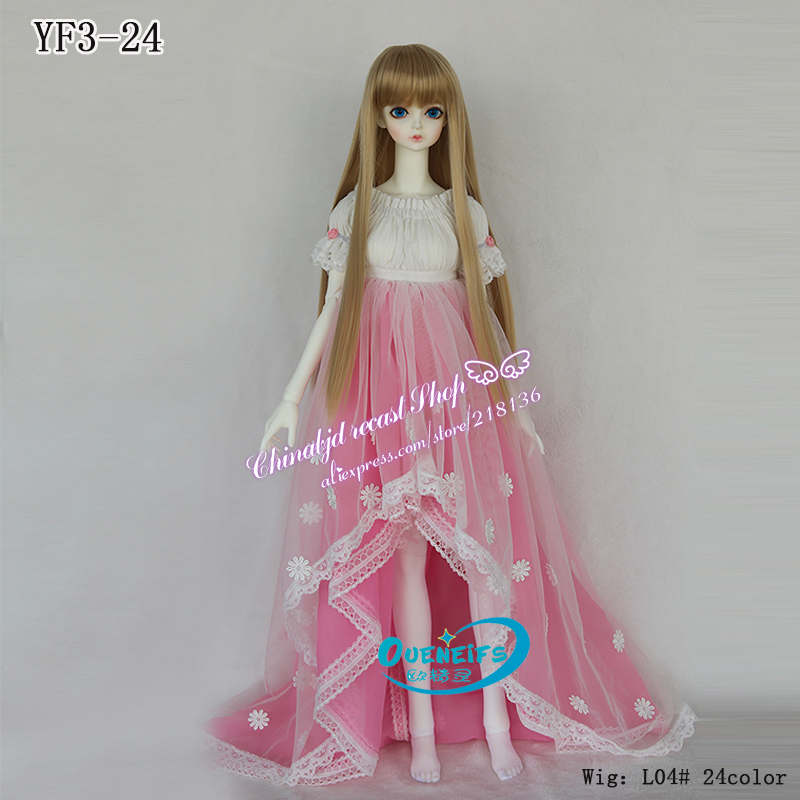 BJD Clothes freeshipping Customization girl long skirt bjd sd doll 1/3 body clothes YF3-24 have not doll or wig 1 3rd 65cm bjd nude doll bianca bjd sd doll girl include face up not include clothes wig shoes and other access