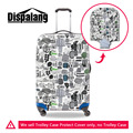 3D Vegetable Graffiti Print Elastic Luggage Protective Covers Waterproof Travel Luggage Protective Covers 18-30 Inch Suitcase