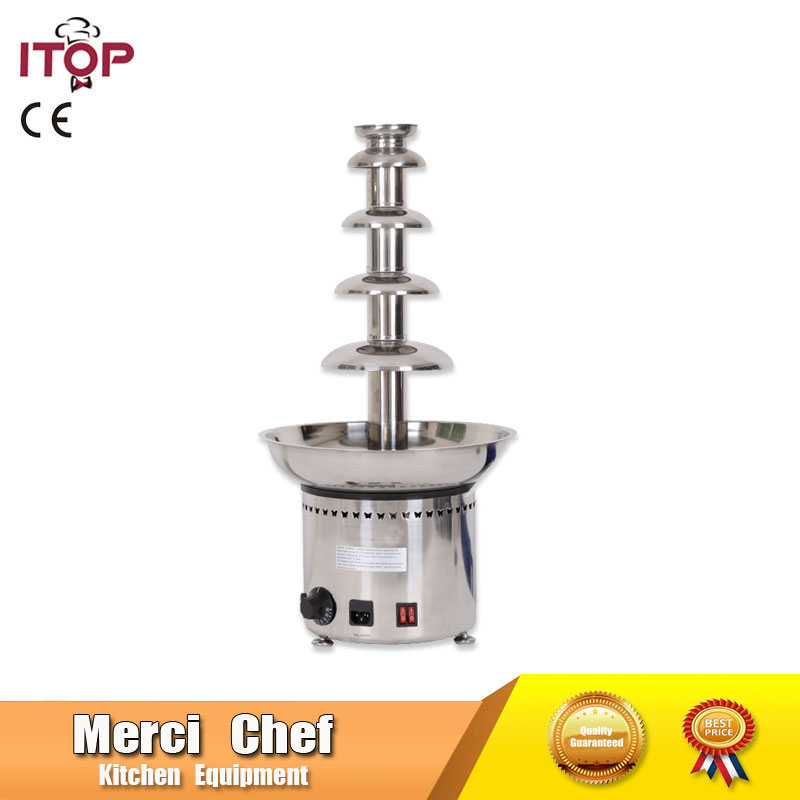 Food Machine  Large 5 Tiers Party Hotel Commercial Chocolate Waterfall Fountain 26.5 CE Certificate 110V/220V/240V fast shipping food machine 6 layers chocolate fountains commercial chocolate waterfall machine with full stainless steel