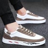 Мужская Вулканизированная обувь в Корейском стиле; Высококачественная дышащая модная обувь для отдыха; Мужская Уличная обувь на толстой по...