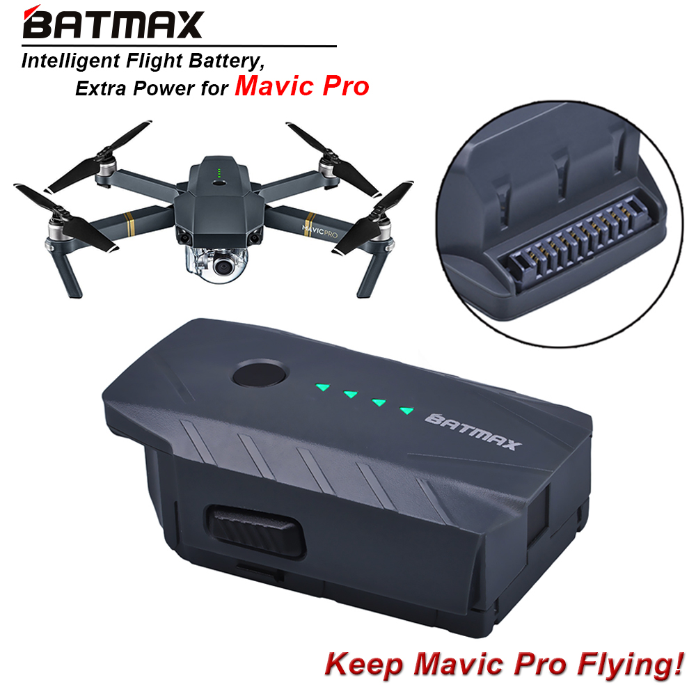 1Pc 3830mAh Mavic Pro Intelligent Flight Replacement Battery For DJI Mavic Pro/ Fly More Combo Quadcopter 4K HD Camera Drones квадрокоптер dji mavic air fly more combo с камерой красный
