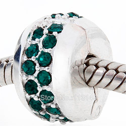 Jewelry & Accessories Charitable 12 Colors Double Rows Austrian Crystal Rhinestones Pave 925 Sterling Silver Lock Clip European Charm Stopper Beads Scsb025 Cheap Sales