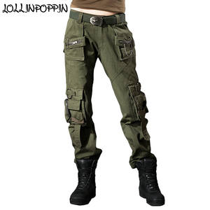 LOLLINPOPPIN Women Cargo Pants Ladies Pants With Trousers