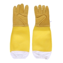 1 Pair Beekeeping Gloves Sheepskin Breathable Material Bee Tools Mesh Hollow Anti-bee Apiculture