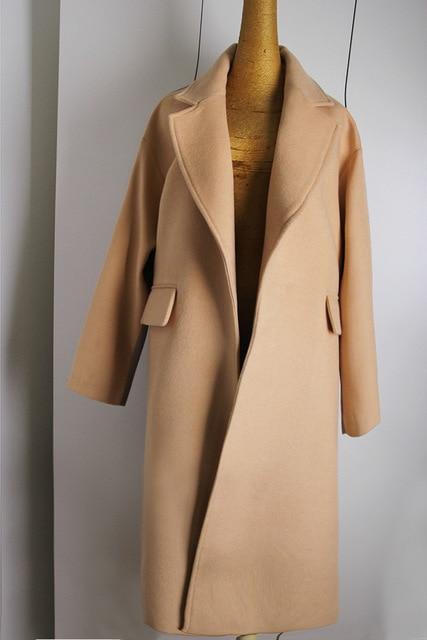 Manteau camel oversize femme
