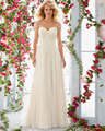 Amdml Elegant Embroidery Chiffon Crystal A-Line Wedding Dresses 2017 Robe De Mariage Linear Beading Straps Vestido De Noiva