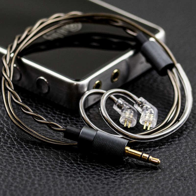 Hiby Jack 3.5 Mm Berlapis Emas Pendek Kabel Headphone (0.78 MM 2 Pin/MMCX)