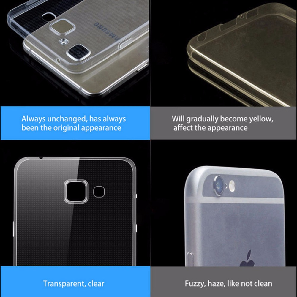 Rivas Premium Clear Soft Case For Samsung Galaxy A5 2016 A510 Original Cover Casing Transparent Silicon Tpu A5100 52 In Fitted Cases From