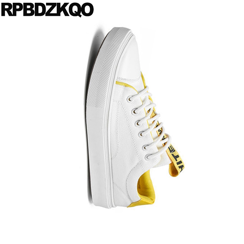Sneakers New 2018 Lace Up Rubber Comfort Summer Breathable Skate Trainers White China Designer Men Canvas Shoes Casual High Top 3