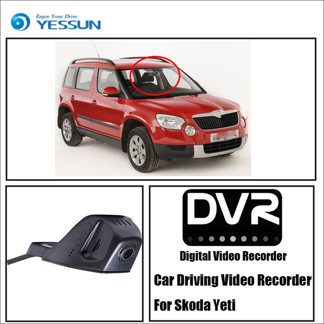 US $63 12 20% OFF|YESSUN Car Front Dash Camera CAM for Skoda Yeti DVR  Driving Video Recorder For iPhone Android APP Control Function-in DVR/Dash
