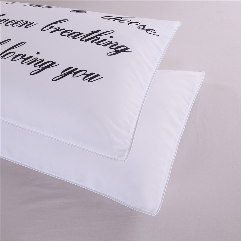 Personalised Love Words Honeymoon Couples Pillowcases Set of 2 Standard  Size 50x75cm White Perfect Wedding Couple Gift-in Pillow Case from Home &  Garden on ...