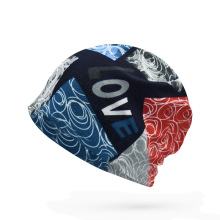 Beanie Neckerchief Two-in-one Hat for Men Women Autumn Spring 5 Colors