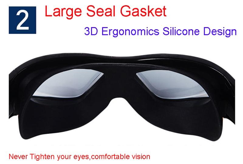 Professional Diopter Myopia Silicone Swimming Goggles Anti-Fog Waterproof With Earplugs 17