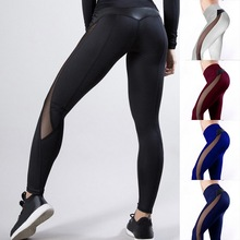 цена на 2019 New Women Yoga Pants Fitness Gym Sports Leggings Running Tight Mesh Yoga Leggings Seamless Compression Training Pants Femme