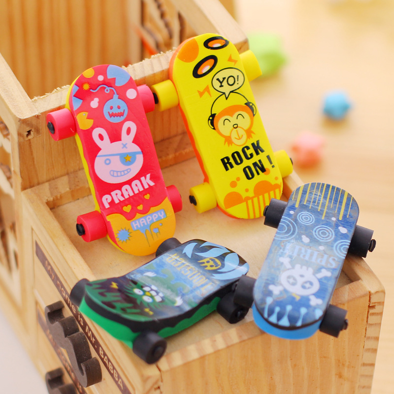 1 Pc Novelty Scooter Mini Eraser Rubber Cartoon Creative Kawaii Stationery Cartoonschool Supplies Papelaria Gift For Kids