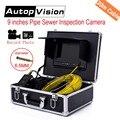WP90 30 m alcantarillado Pipe serpiente inspección cámara de vídeo del sistema 9''tft LCD impermeable tubería endoscopio con función dvr