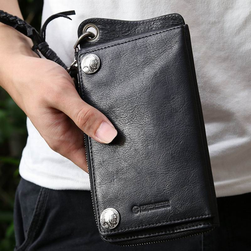 Luxury Male Genuine Leather Purse Men's Clutch Wallets Handy Bags Business Carteras Mujer Wallets Card Holder High Quality