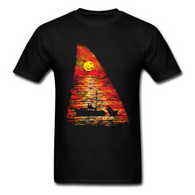 Ocean Predators T Shirt All Cotton Tshirts For Men Europe T-Shirt Shark Sunset New Arrival Summer Clothes Birthday Gift Top Tees
