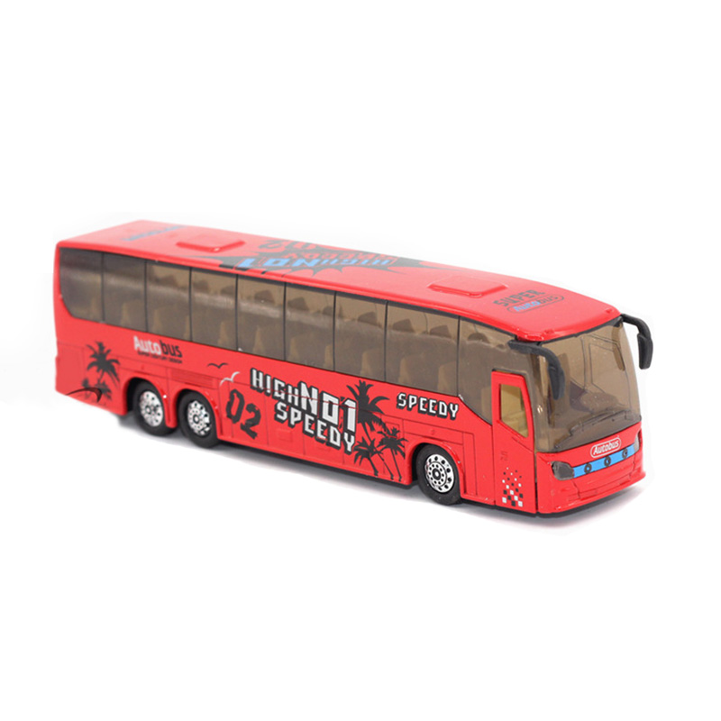 1 50 Scale Pull Back Music Bus Metal Diecast Model LED Light Vehicle Toys Gifts for boys girls kids childs 2018 new in Diecasts Toy Vehicles from Toys Hobbies