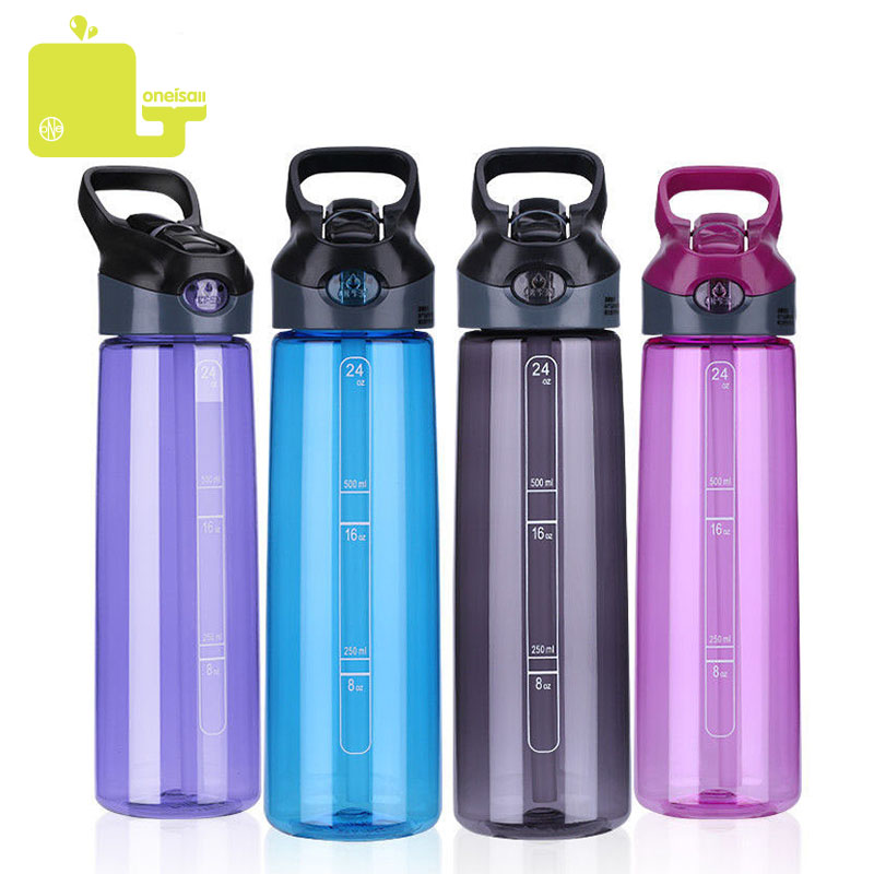 750ML Water Bottle Tritan Sport Bottles My Portable Handle Bike Straw Bicycle Cycling Tumbler With Cup