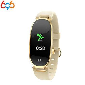 696 S3 สมาร์ทนาฬิกาผู้หญิง Lady สายรัดข้อมือฟิตเนสสร้อยข้อมือ Heart Rate Monitor IP68 สมาร์ทบลูทูธกันน้ำสำหรับ ...