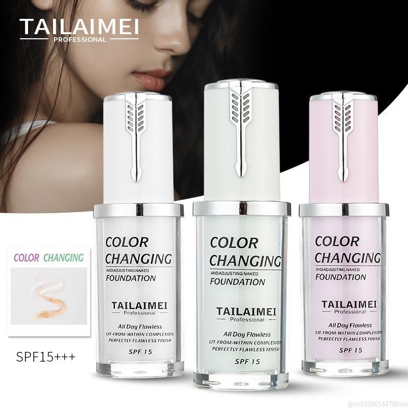 Жидкий тональный крем TSLM1 для макияжа лица, меняющий цвет, меняющий температуру