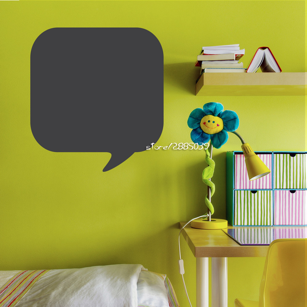 Chalkboard Thought Vinyl Wall Stickers Bubble Wall Decal Creative ...