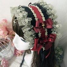 Дворец Готический викторианский Лолита шляпки головной убор Головной убор