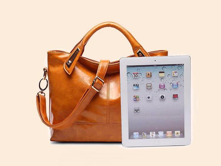 Women Oil Wax Leather Designer Handbags High Quality Shoulder Bags Ladies Handbags Fashion brand PU leather women bags WLHB1398 14