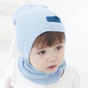 JOCESTYLE Baby Cap Kids Beanie Children Knitted Hat Scarf 6df882c3e91
