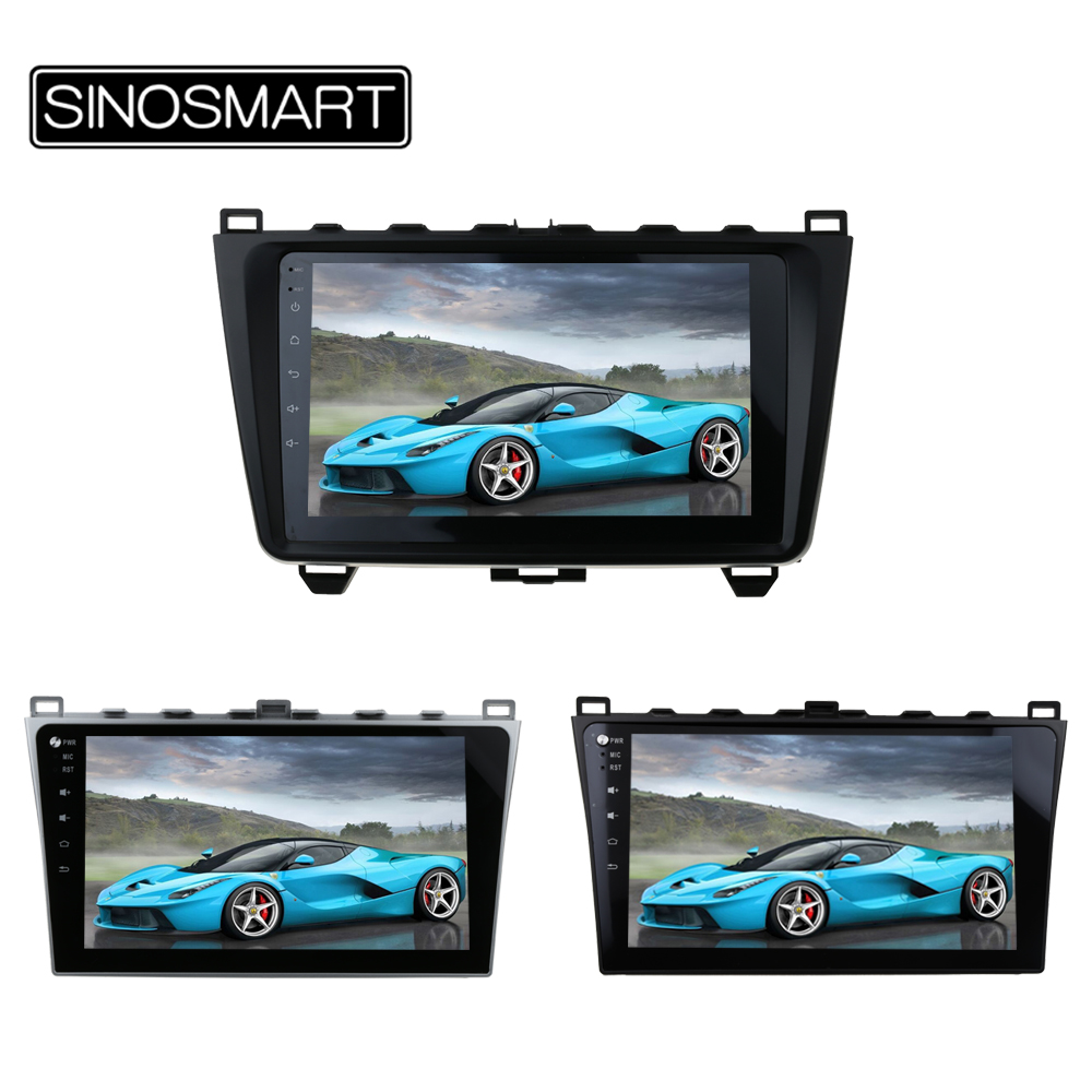 SINOSMART 2 din RAM 2G/1G Android 6.0 Car Radio GPS Navigation Player for Mazda 6 2008-2015 Support BOSE Audio System
