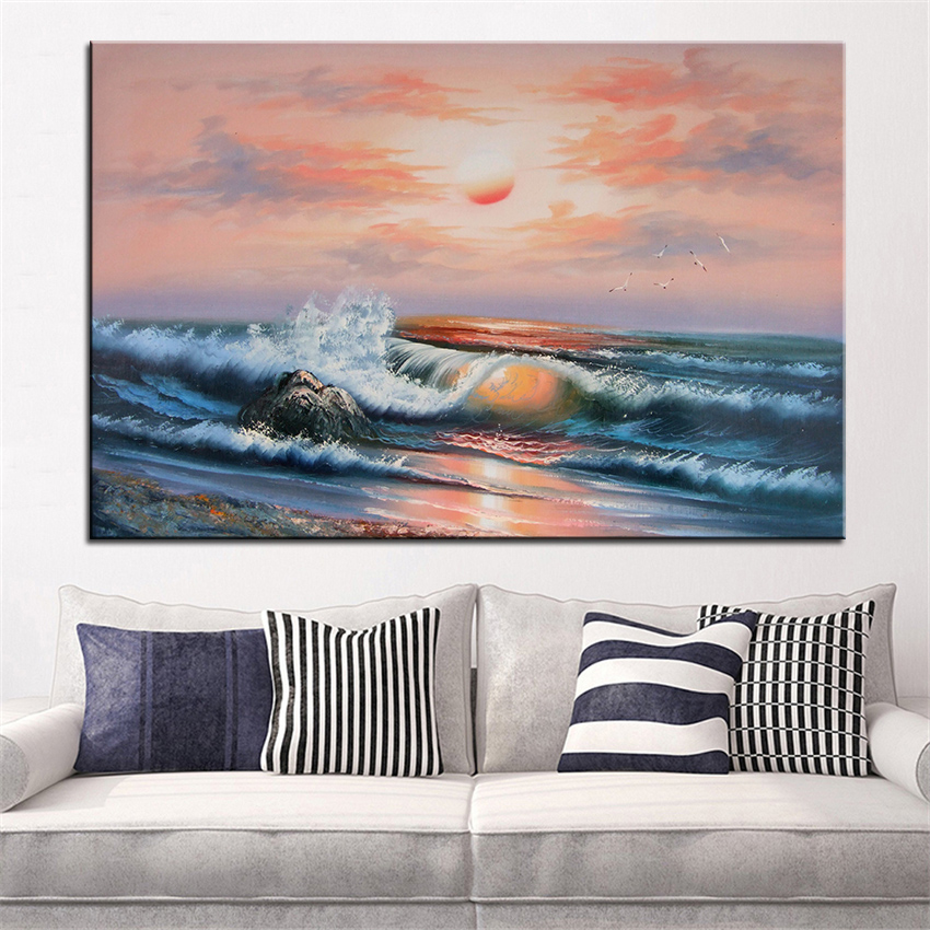Aliexpress Com Buy Extra Large Wall Painting Of Dusk The