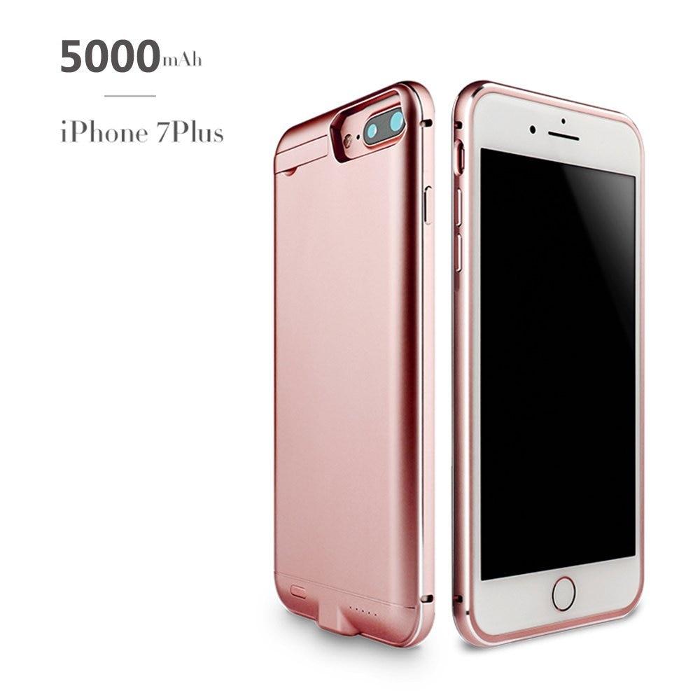 bilder für Für iPhone 7 Plus Batterie-kasten, 5000 mAh Externe Batterie-backup-ladegerät Fall Pack Energien-bank für iPhone 7 Plus (5,5 zoll)