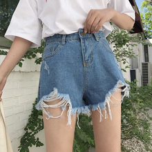Mihoshop Ulzzang Korean Korea Women Fashion Clothing High Waist Denim Casual Preppy Shirt Pants