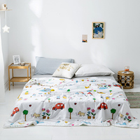 Adults Kids Boys Twin Queen size Quilt Comforter 100%Cotton Soft Blanket Quilted Bed Cover Bedspread set Reversible Lightweigh