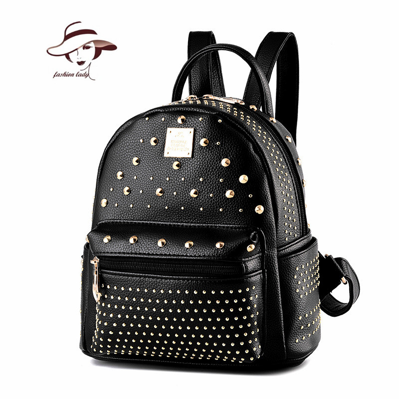 2017 Women Backpack Famous Brand Leather School Bag Women Casual Style Shoulder Backpacks For Teenage Girls Diamonds Travel bags
