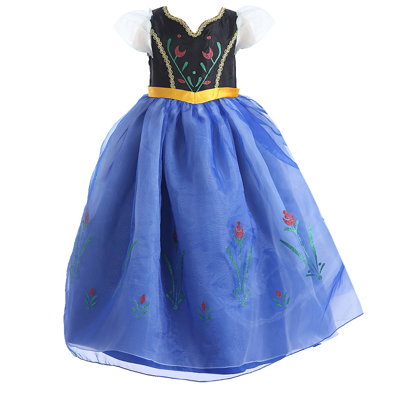 2018 Elsa Dresses for Girls Snow White Princess Anna Cosplay Costume Kids Party Dress Vestidos Halloween Robe Children Clothing рубашка мужская greg horman цвет синий белый 2 171 20 1393 размер 39 46