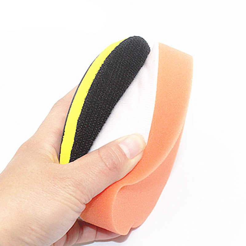 Pulidor de cera pulidor de esponja naranja almohadillas planas pulidoras suministros