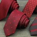 Men 's Leisure Career Ties Polyester Groom Wedding Festive Striped Tie