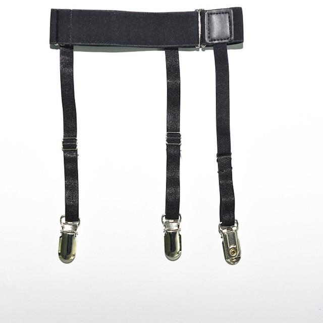 2 Pcs Men Shirt Stays Belt with Non-slip Locking Clips Keep Shirt Tucked Leg Thigh Suspender Garters Strap LL@17 2