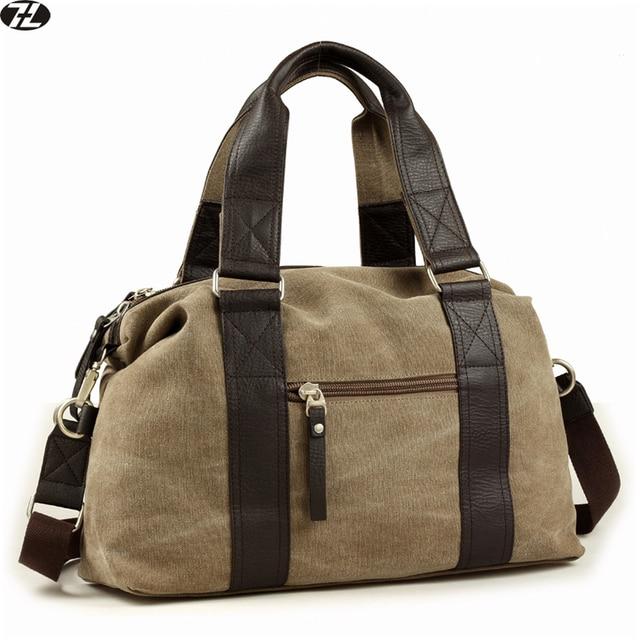De alta calidad de lona hombres viajan bolsa de lona hombre bolso ocasional de la vendimia Del Estilo de Inglaterra los hombres del mensajero del hombro crossbody bolsas Para Portátiles