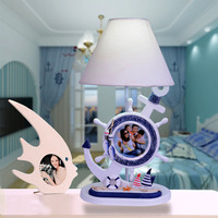 Светодиодный настольная лампа Средиземноморский Спальня ночники офис светильник украшения детская комната лампы
