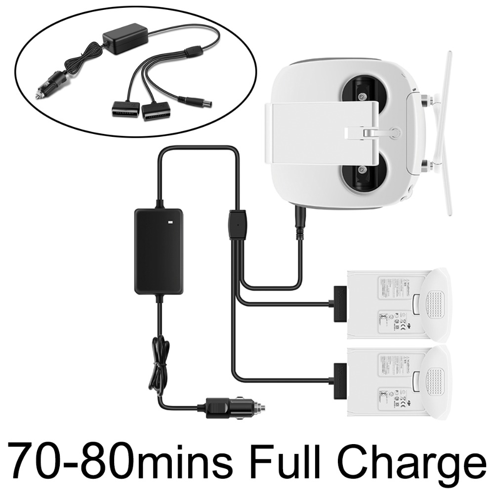 все цены на 3 IN 1 Car Charger 4A Advanced Intelligent Battery Remote Controller Travel Outdoor Charger Fast Charger for DJI Phantom 4 Pro
