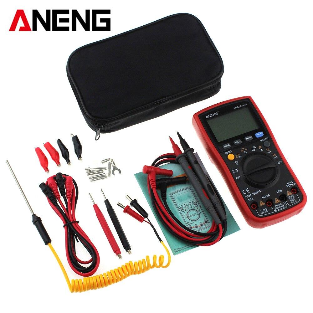 ANENG AN870 Digital Multimeter Auto Range True RMS 19999 Counts NCV Ohmmeter AC DC Voltage Ammeter