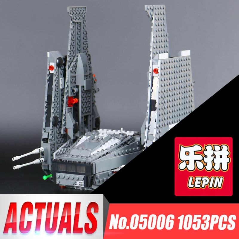 Lepin 05006 Star Series Wars Kylo Lovely Ren Command Funny Shuttle Building Blocks Educational Gifts Toys Compatible with 75104 color metal 3d puzzle star wars millennium falcon for adult 2016 new batman flying wing kylo ren shuttle 3d nano jigsaw puzzles